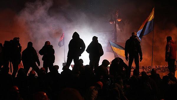 Protest w Kijowie, 25 stycznia 2014 r.