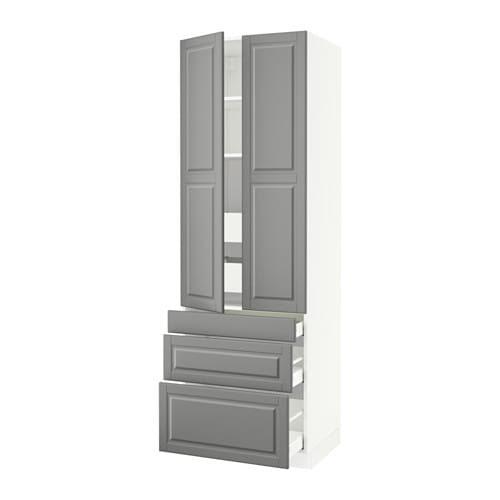 SEKTION High cabinet w/2 doors & 5 drawers - Ma, Bodbyn ...