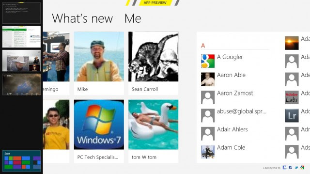 Windows 8 CP People app