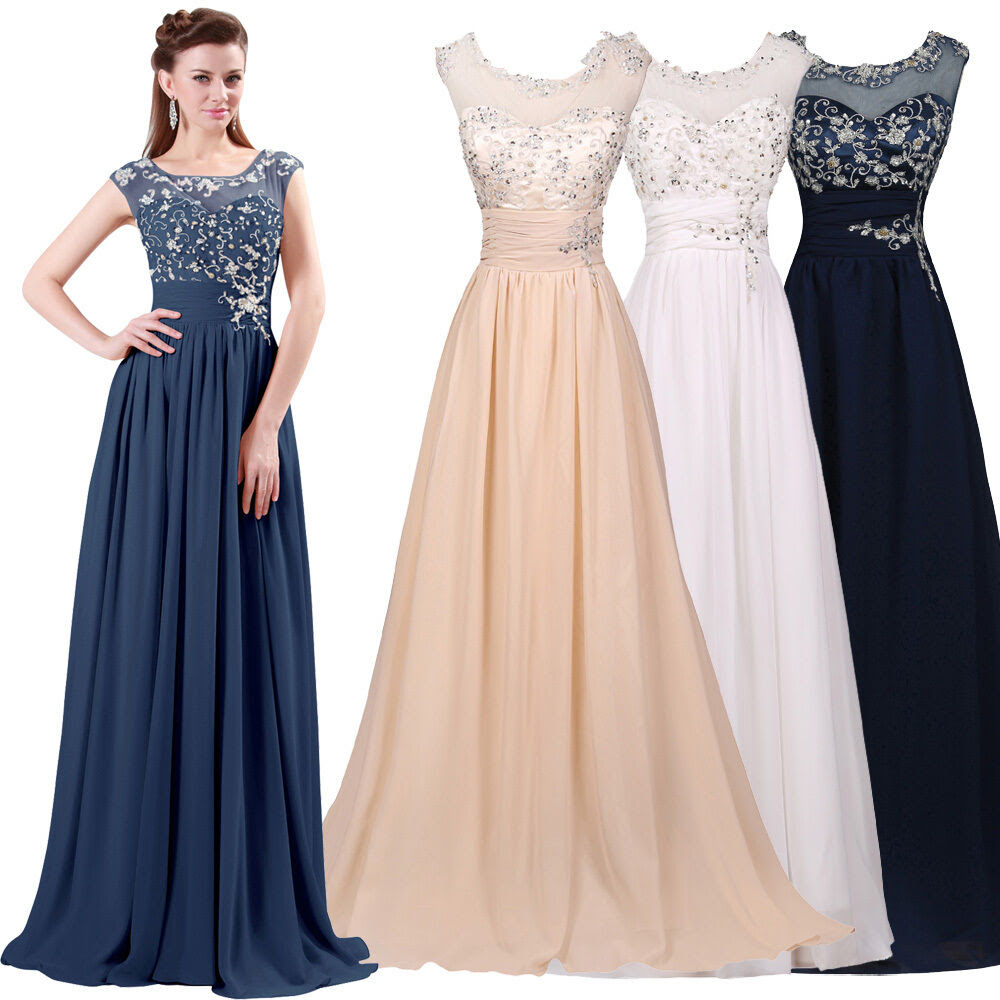 2016 applique women long formal bridesmaid prom wedding