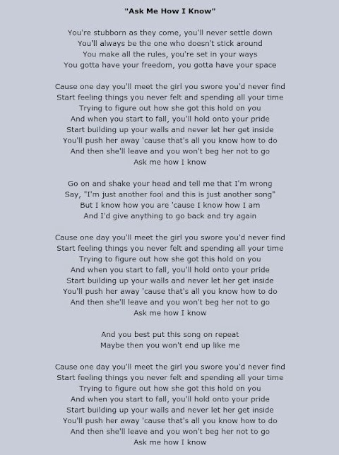 Garth Brooks Ask Me How I Know Song With Lyrics