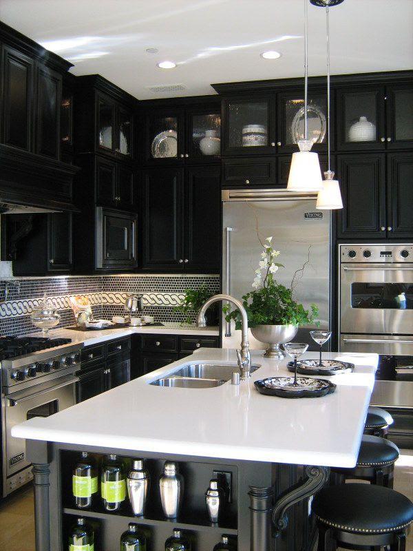 53 Stylish Black Kitchen Designs - Decoholic
