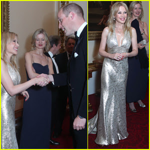 Kylie Minogue Meets Prince William at Benefit Dinner at Buckingham Palace!
