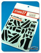 Patron de fibra de carbono en calca 1/12 Studio27 - Ducati Desmosedici - Campeonato del Mundo 2004 para kits de Tamiya TAM14101 y TAM14103