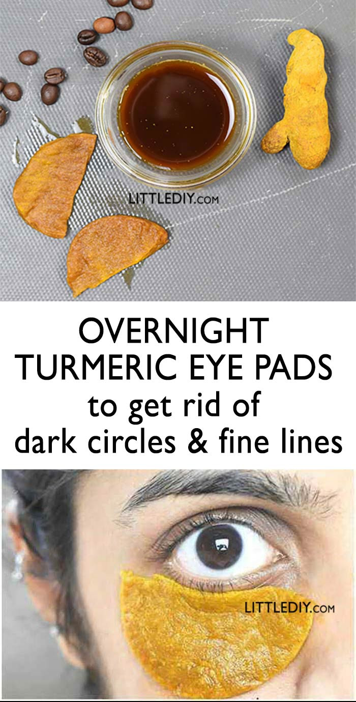 OVERNIGHT TURMERIC EYE PADS FOR DARK CIRCLES - LITTLE DIY