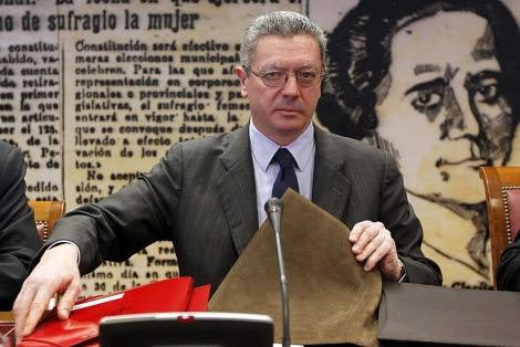 Gallardón, durante su comparecencia en el Senado, | J.J. Guillén / Efe