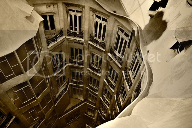 La Pedrera or Casa Mila: Inner Court and Air Shaft [enlarge]