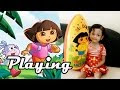 Bermain Bola Dora The Explorer ❤ Play Ball at Home ❤ Mainan Anak-anak