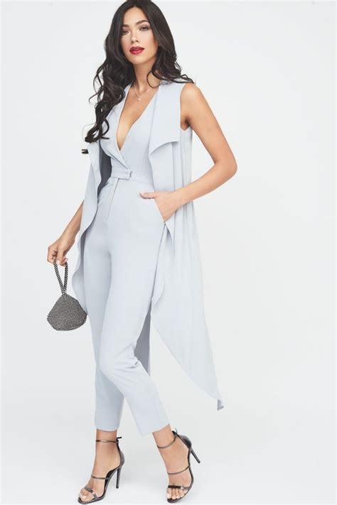 waterfall tailored jumpsuit  uk   fashion