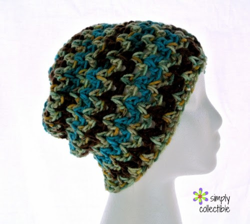Desert Hope Slouch Beanie crochet pattern - Make it with or without a band! by Simply Collectible Crochet