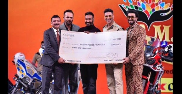 Rohit Shetty Makes A Whopping Donation From Simmba's Collection To Mumbai Police