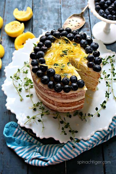 Keto Naked Lemon Cake with Lemon Cream Cheese Frosting
