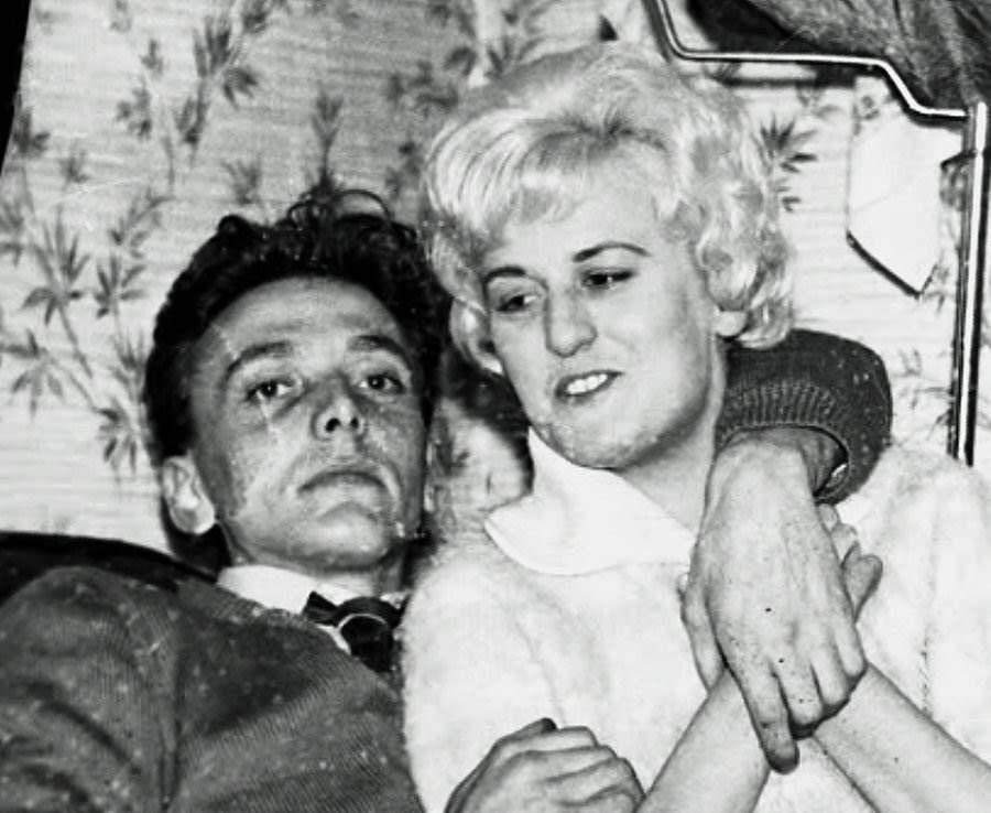 Ian Brady and Myra Hindley, pictured in a private photo album, seized by police
