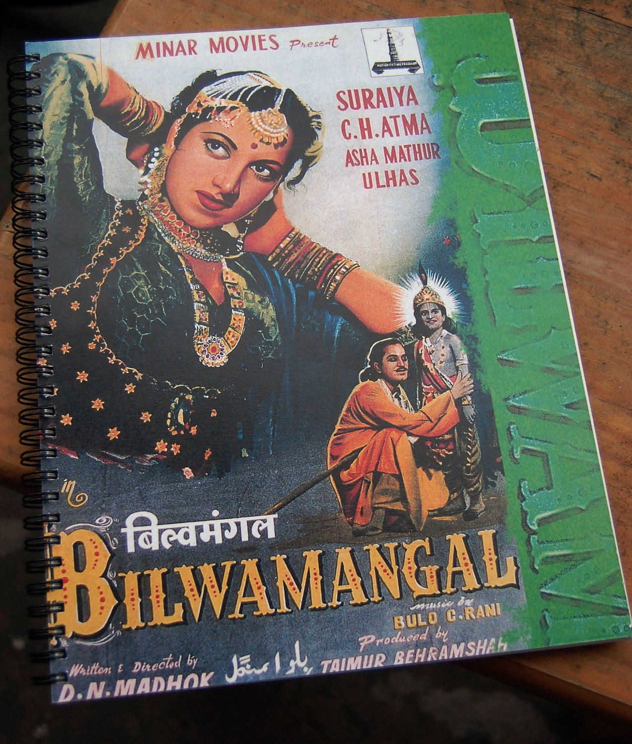 Bollywood Movie Poster Sketchbook - Bilwamangal