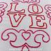 L O V E embroidery pattern