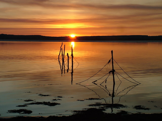 File:Sunset over the Point Nets at Creetown on the River Cree - geograph.org.uk - 137529.jpg