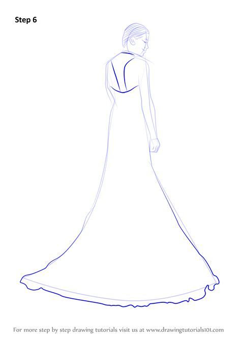 Learn How to Draw a Bridal Gown (Fashion) Step by Step