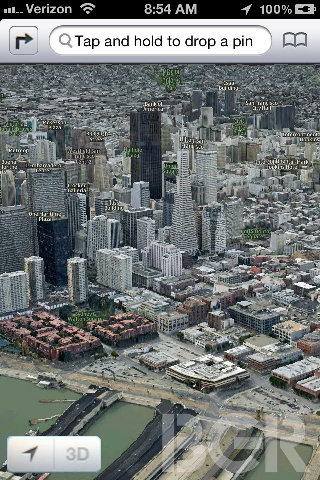 Apple Maps for iOS 6 with 3D this summer