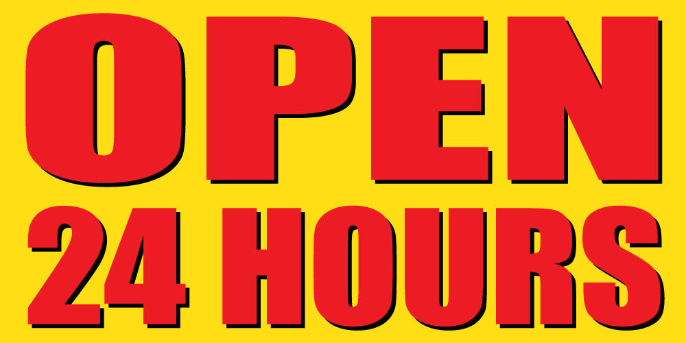 OPEN 24 HOURS Sign Banner Auto Repair Ad 4'x8' Automotive ...