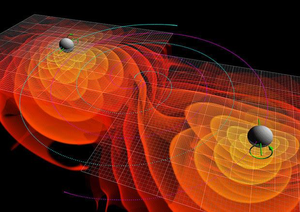 Premiata con il Nobel la scoperta delle onde gravitazionali (fonte: NASA/Ames Research Center/C. Henze) © Ansa