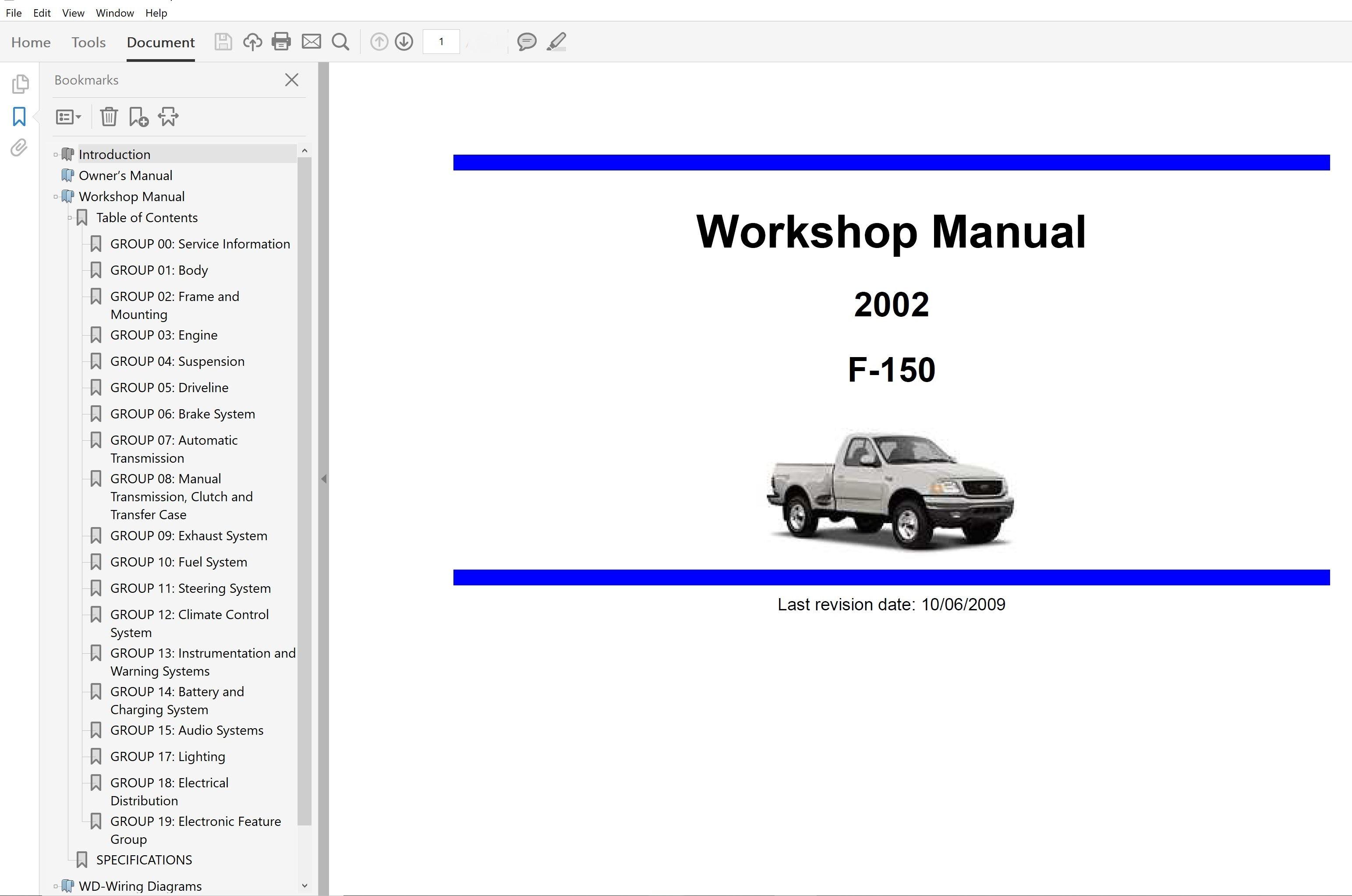 2002 Ford F150 Repair Manual