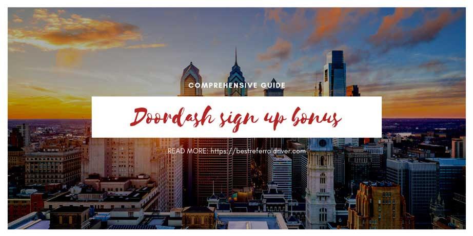 DoorDash driver Sign-up Bonus Philadelphia Updated 2020