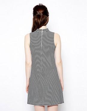 Image 2 ofPop Boutique Sleeveless Swing Dress in Stripe