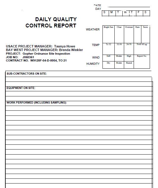 Contoh Format Laporan Quality Control Contoh Ert