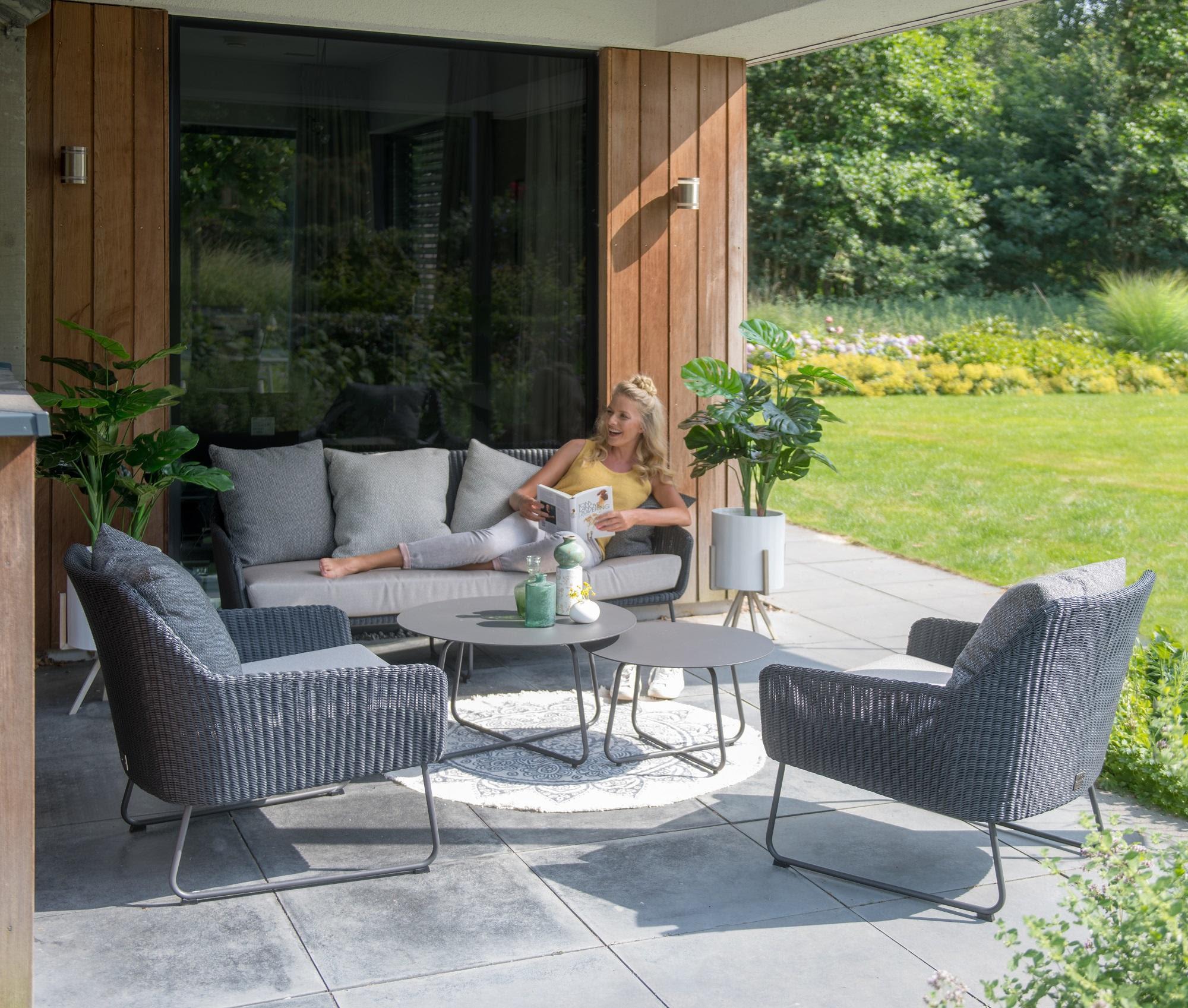 Modern Garden Rattan Sofa & Armchairs Lounge Set with ...