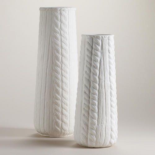 White Ceramic Sweater Vase