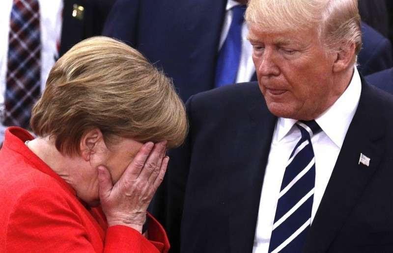 Трамп обвинил старушку Меркель в проведении бездарной государственной политике