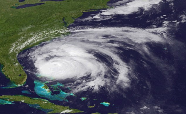 A view of Hurricane Irene