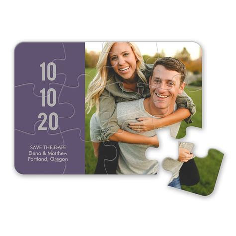 Sweet Smiles Save the Date Puzzle   Invitations By Dawn