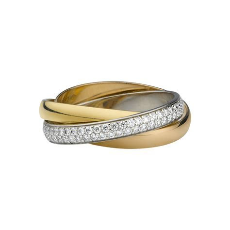 Trinity ring   3 gold, diamonds   Fine Wedding Bands for