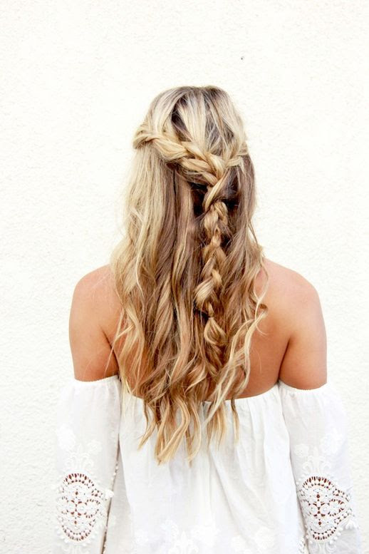 6 Le Fashion Blog 21 Braid Ideas For Long Hair Wavy Half Up Boho Chic Braided Hairstyle Festival Via A Fashion Love Affair