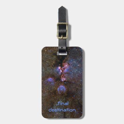 Name, Cats Paw Nebula in Scorpius space picture Tag For Luggage