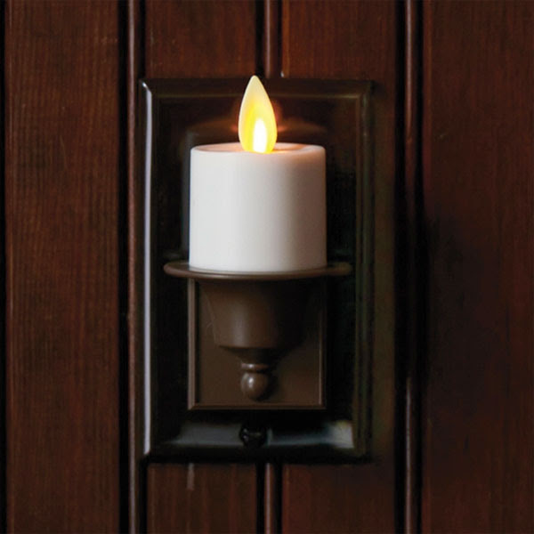Moving Flame Night Light With Auto Sensor - Buy Now