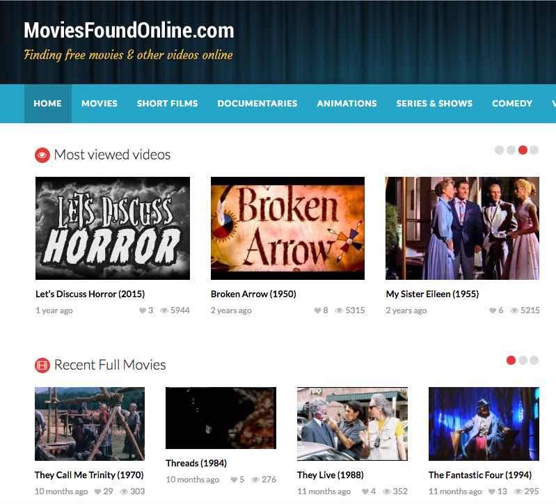 movies found online free feature films