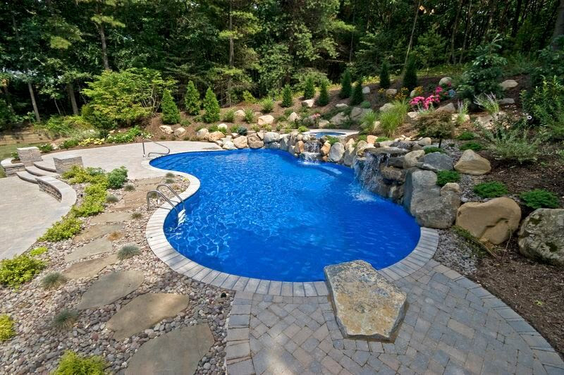 Creative Solutions Designing Pool Wall As Part Of Retaining Wall