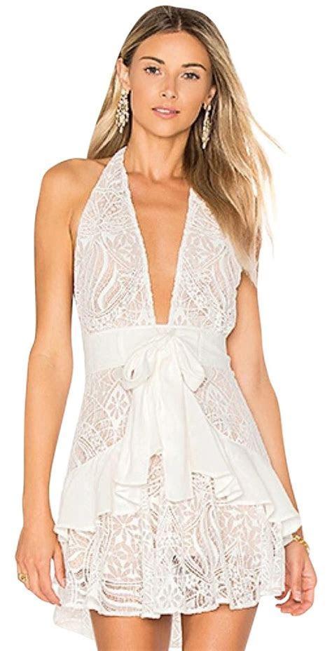 For Love & Lemons Lily Lace Halter Dress on Tradesy