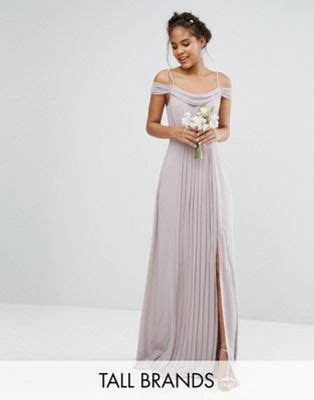TFNC Tall Wedding Cold Shoulder Embellished Maxi Dress   ASOS