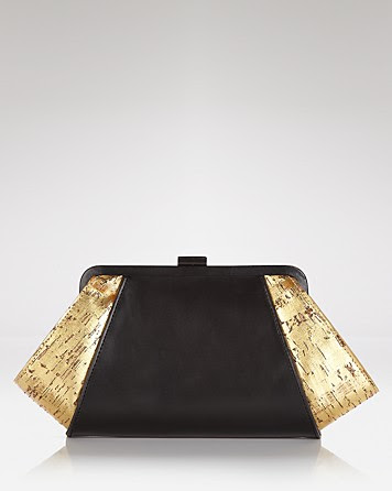 Z Spoke Zac Posen Posen Leather Cork Clutch