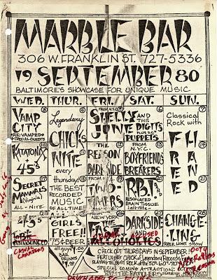 Marble Bar Calendar - September 1980