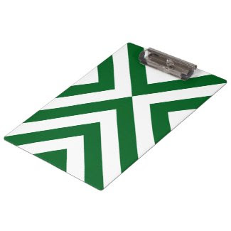 Green and White Chevrons Clipboards