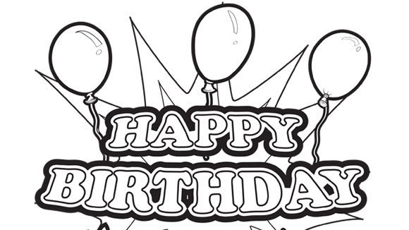 happy birthday coloring pages for boy - Clip Art Library