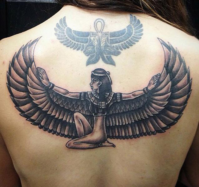 Egyptian Wings Tattoo Best Tattoo Design Ideas