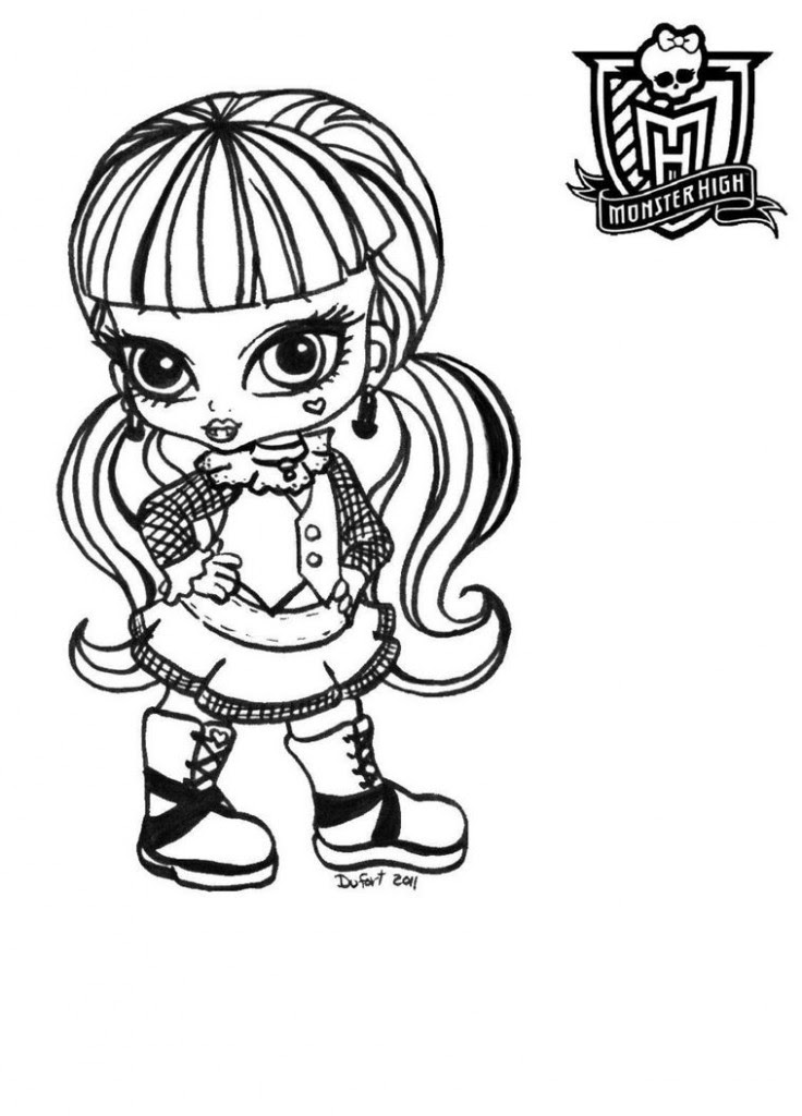 Monster High Coloring Pages Online At Getdrawingscom Free For