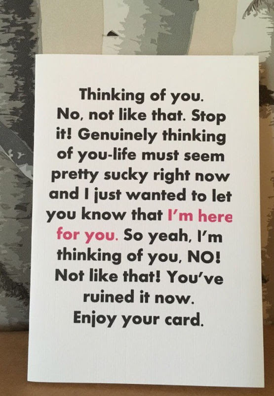 Thinking Of You Funny Card Those Cards And Things