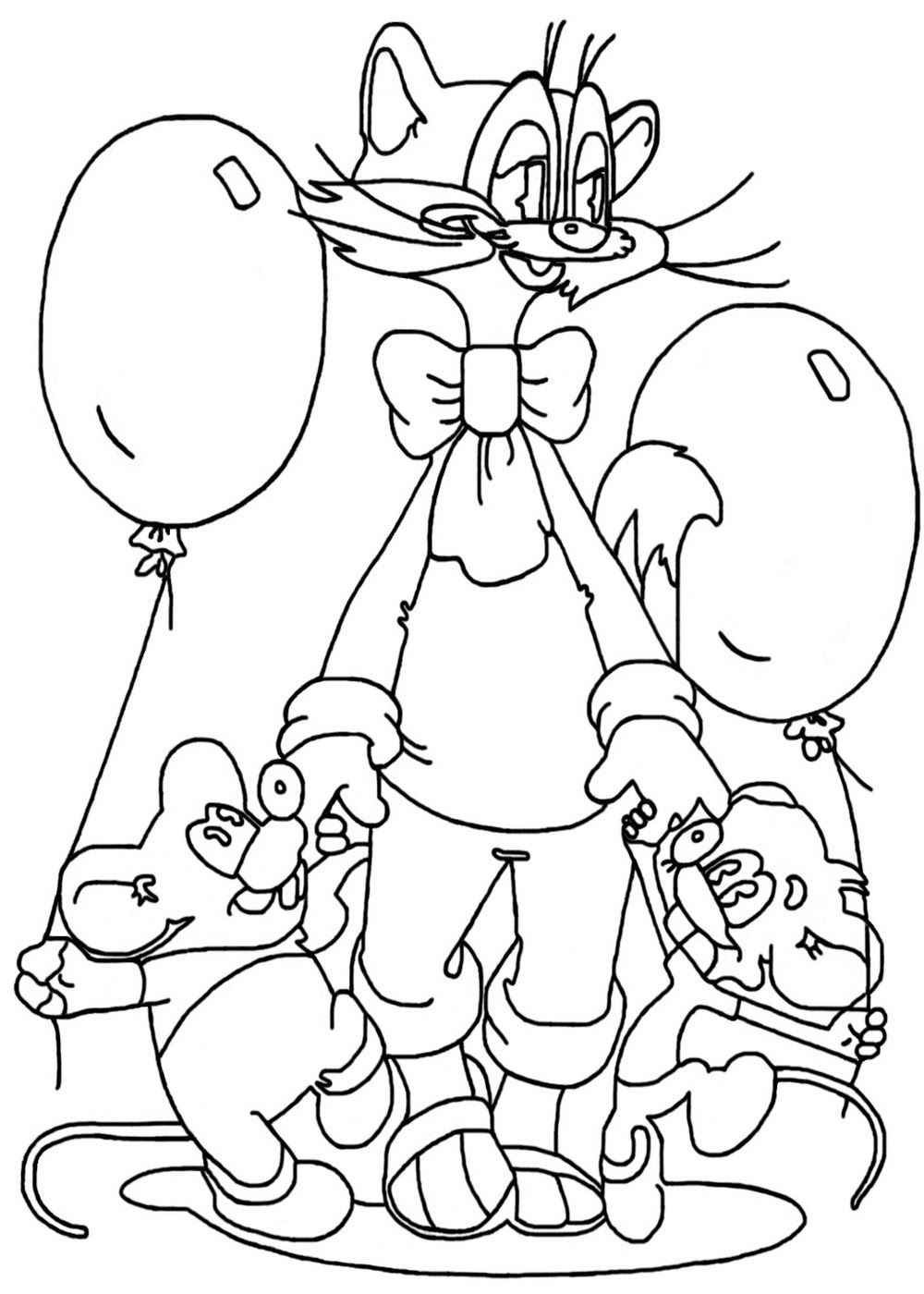 Balloon coloring pages for kids to print for free