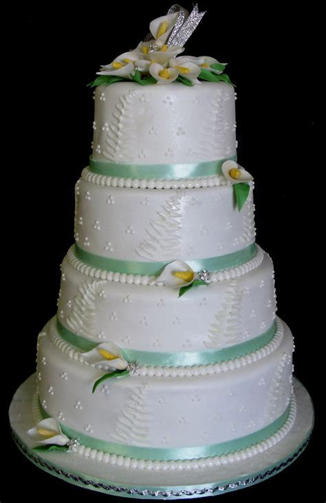 Sugarcraft by Soni: Four Tier Wedding Cake: Arum Lilies